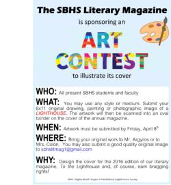 SBHS Literary Magazine Art Contest - News and Announcements - Saint